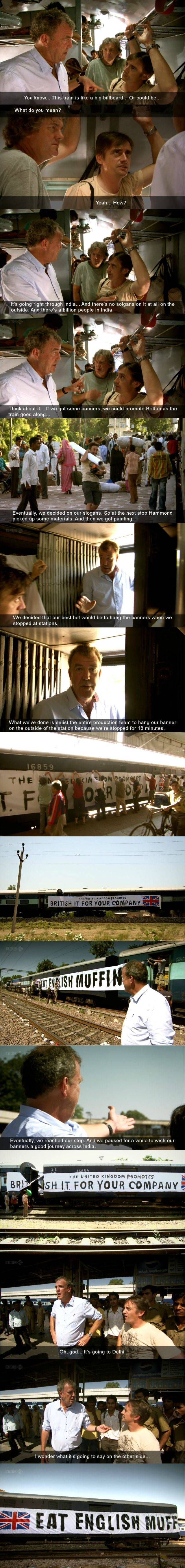 haha -One of the best moments in Top Gear history...