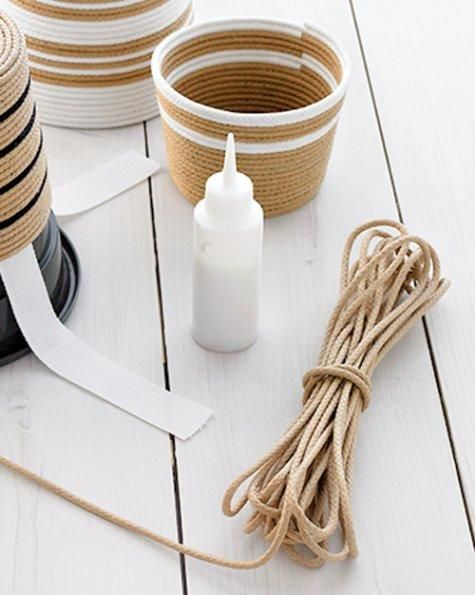 Striped Rope Baskets How-to