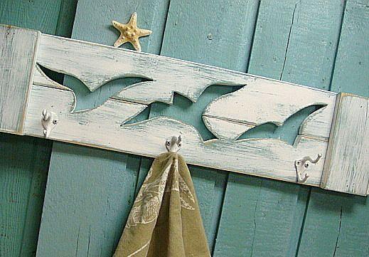 Seagull Hook Coat Rack Beach House Decor by CastawaysHall on Etsy