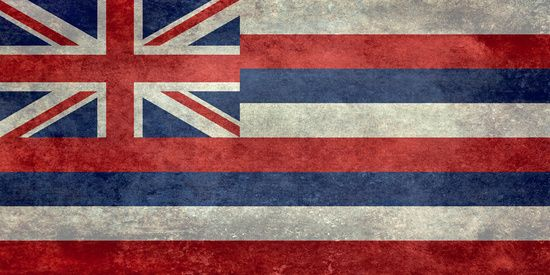 The State flag of Hawaii - Vintage version Canvas Print#Hawaii #flag #Hawaiianflag #vintage #retro
