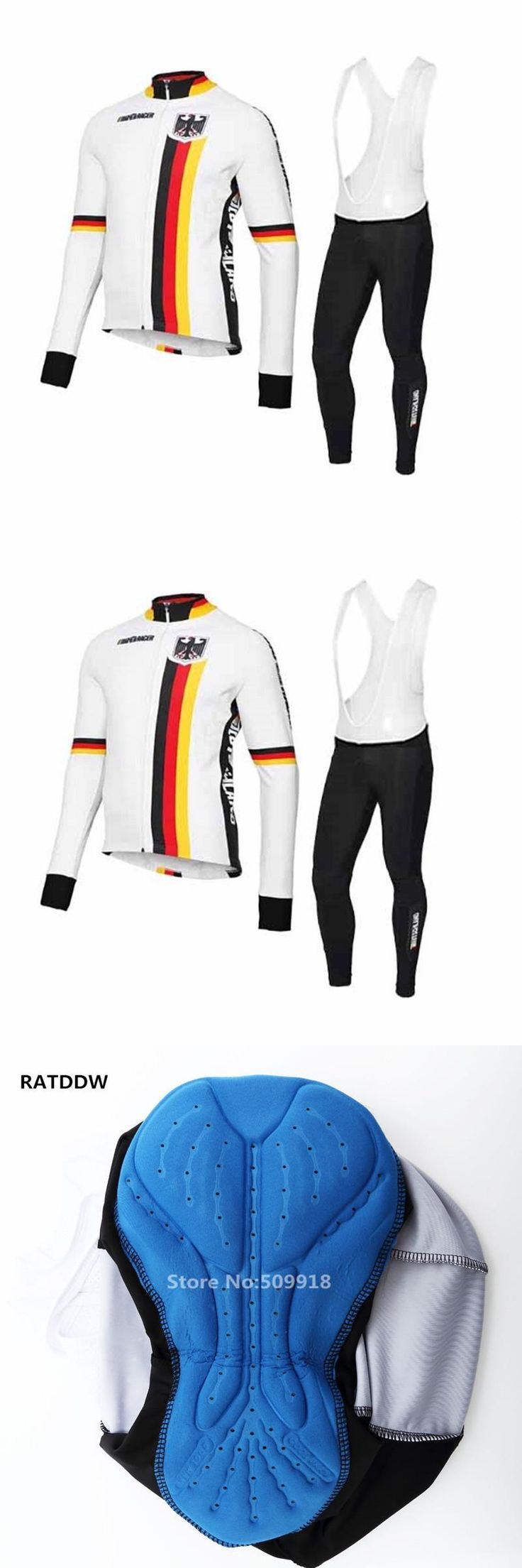 [Visit to Buy] Germany Bike Winter Cycling Jersey  Bicycle Clothing Fleece Bike Jersey Wear Clothing Bicycle Clothes ropa ciclismo maillot #Advertisement