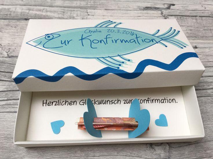 Geldgeschenke - Geldgeschenk zur Konfirmation Handmade Box - ein Designerstück von Kunstundtext bei DaWanda