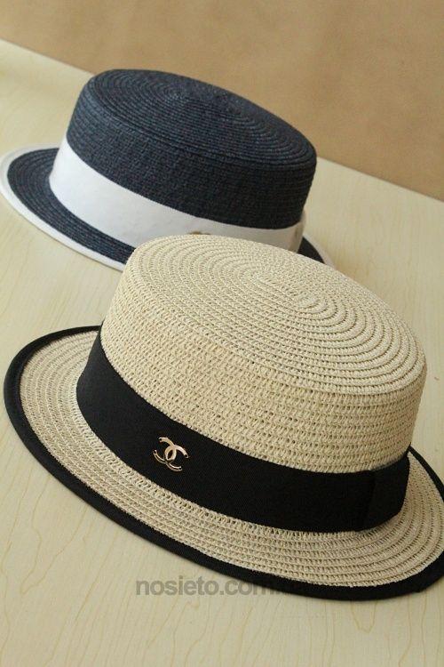 купить Соломенная шляпа канотье Chanel