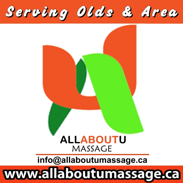 All About U Massage NEW and improved Logo. Visit there fanpage @ abumassage. or twitter link is @All About U Massage Locally owned and operated in Mountain view area. Also have a RETAIL location that services Facials, Massage, Body Applicator Wraps, Raindrop Therapy, YoungBlood Mineral Make-up (Coming soon!)