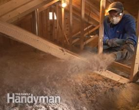 DIY blown insulation in attic