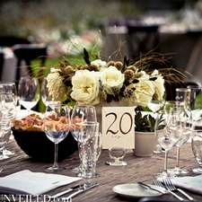 Fabulous rustic but sophisticated table setting.