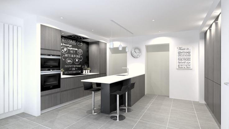 Keuken lichten boven kolomkasten