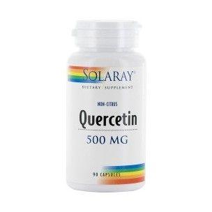 Quercetin 500mg des laboratoires Solaray est un complément alimentaire naturel à base de quercetine, un anti-oxydant qui aide à renforcer la résistance face aux allergies alimentaires ou respiratoires.
