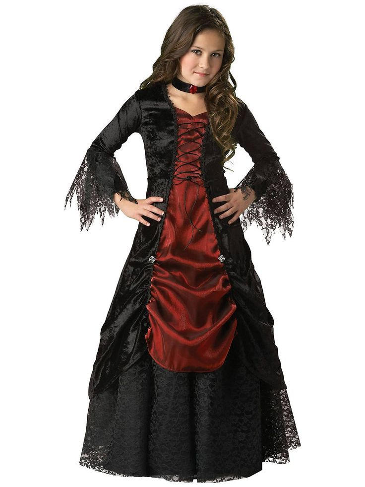 Gothic Vampiress Kids Costume | Wholesale Vampire Costumes for Girls