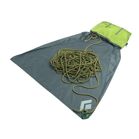 Use a rope bag with an attached tarp as a clean and portable down/stay spot for your service dog. A few quiet/busy toys and a blanket can go where the ropes are typically stored so that your service dog can remain comfortable and clean during a long down such as in school, in the office, on public transportation, or outside.   Black Diamond Equipment Super Chute Rope Bag 8587K - Save 26%