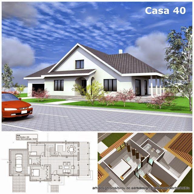 Case Arhidesign: Proiect casa parter,mansarda si garaj - model 40
