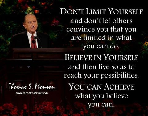 You achieve what you believe you can
