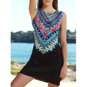 SHARE & Get it FREE | Ethnic Style Sleeveless Scoop Neck Printed A-Line Women's Tribal DressFor Fashion Lovers only:80,000+ Items·FREE SHIPPING Join Dresslily: Get YOUR $50 NOW!