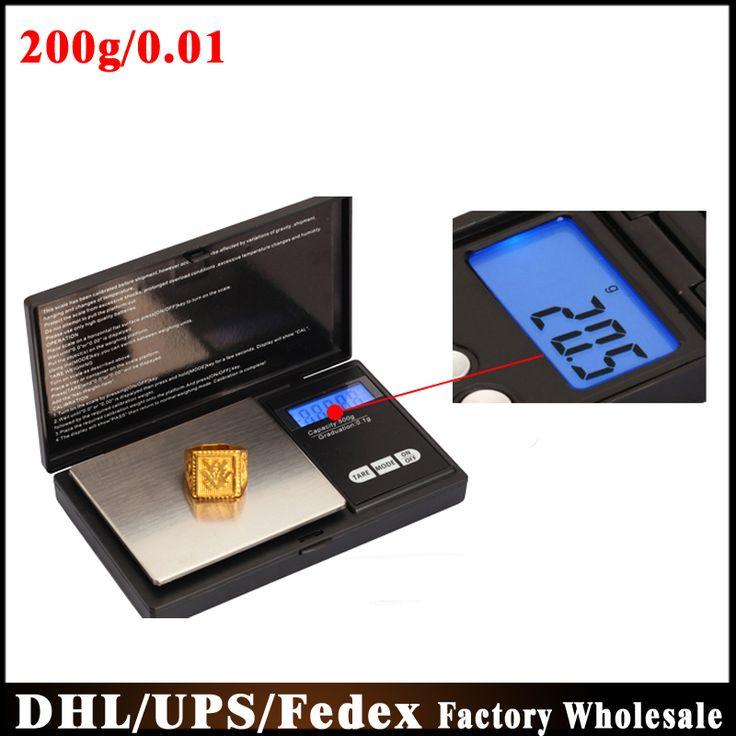 DHL Fedex 200pcs/lot CS Precision Jewelry Mini Pocket Scale 200g/0.01g Electronic Digital Palm Scales Weighing Balance