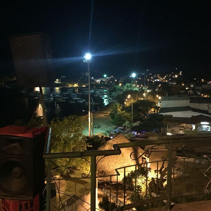 Taganga a party coastal town by night