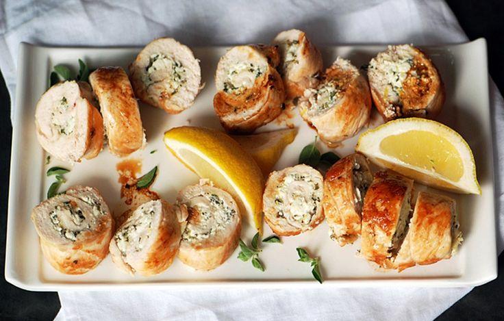 Chicken Roulade   Recipe   Chicken, Bon Appetit and Feta