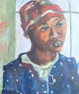 """Portrait - after Irma Stern"""
