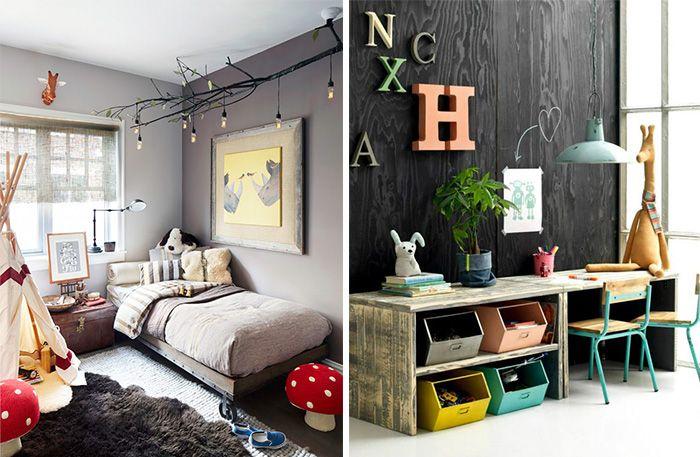Alla som har barn vet att de vackra pastellerna och fina tapeterna är ett minne blott så fort barnen får bestämma över inredningen. Då kan vi räkna med leksaker i rött, gult och blått över hela golvet och gärna en och annan teckning som målats direkt på väggen. Men låt oss drömma och inspireras av dessa härliga barnrum ändå.
