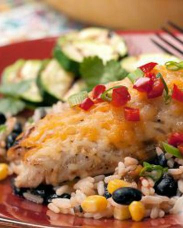 Slow Cooker Black Bean Chicken:  I've been making this recipe for a couple of years. It is so good, easy and cheap too! | via @SparkPeople #food #Crockpot #dinner #healthy