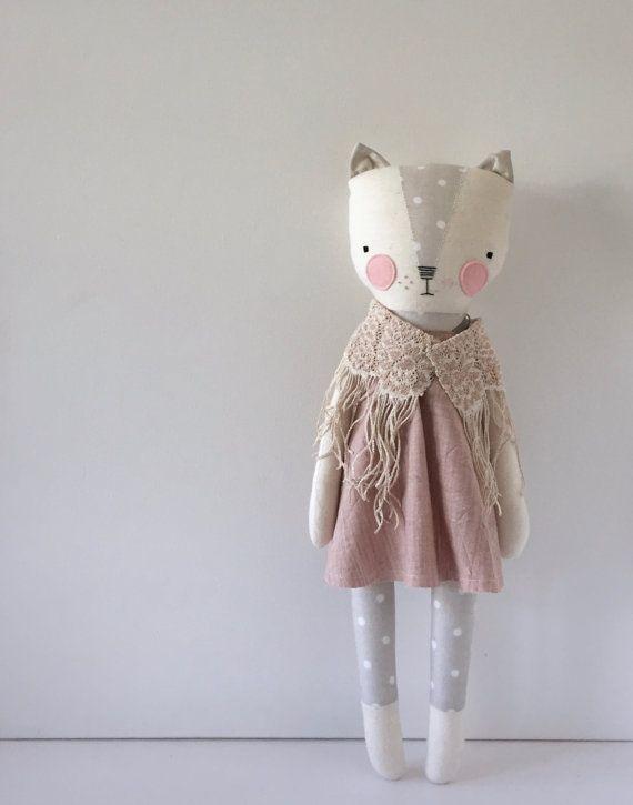 luckyjuju kitty girl STANDING style by luckyjuju on Etsy