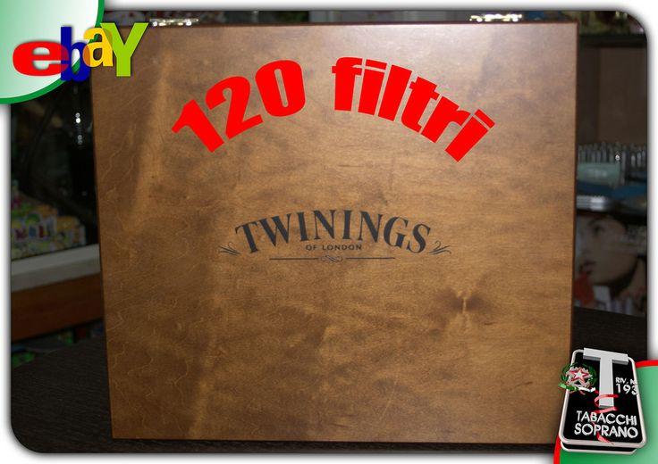 TWININGS CASSETTA  IN LEGNO THE/TE .120 pz aromatizzati! TWININGS box