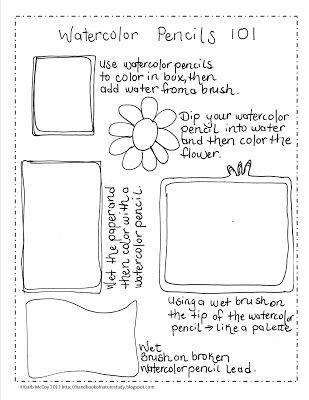 Handbook of Nature Study: Watercolor Pencil 101 Tutorial Video and Printable