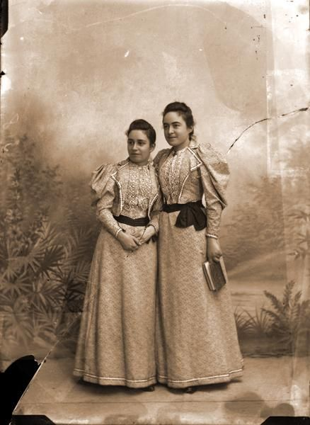 Celine Martin, St. Therese's sister, and her cousin, Marie Guerin (left) were great friends growing up.  St. Therese was also very close to cousin Marie G. and frequently wrote to Marie after Therese went to Le Carmel convent.