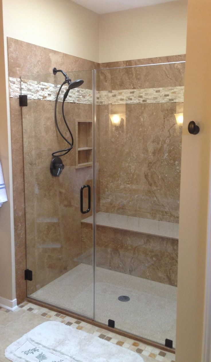 23 Doorless Shower Ideas Walk In 14 Remodeling Bathroom Showers Pics Photos Remodel Ideas For Tub To Shower Conversion Bathroom Remodel Shower Shower Remodel