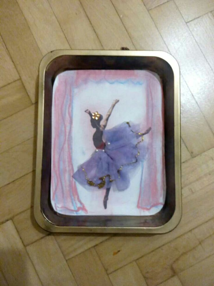 Ballerina art project inspired by Degas!