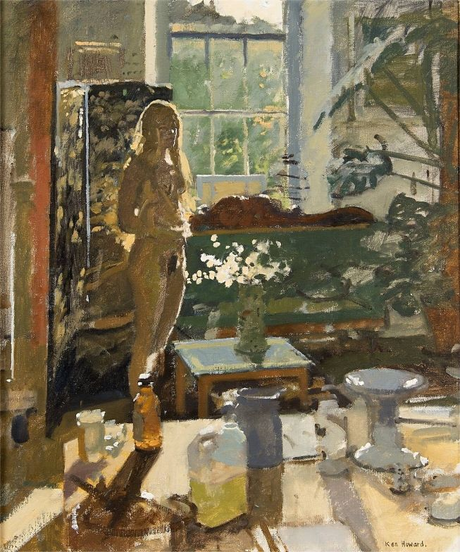 'Summer Interior' - Ken Howard (b. 1932),  This lovely painting has some of the qualities I love in Vuillard's work.