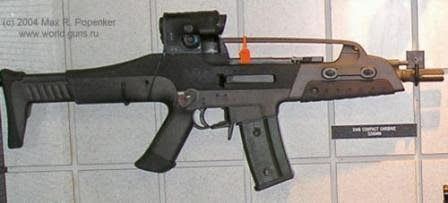 XM8 rifle in Compact (SMG / PDW) configuration, with shortened barrel.
