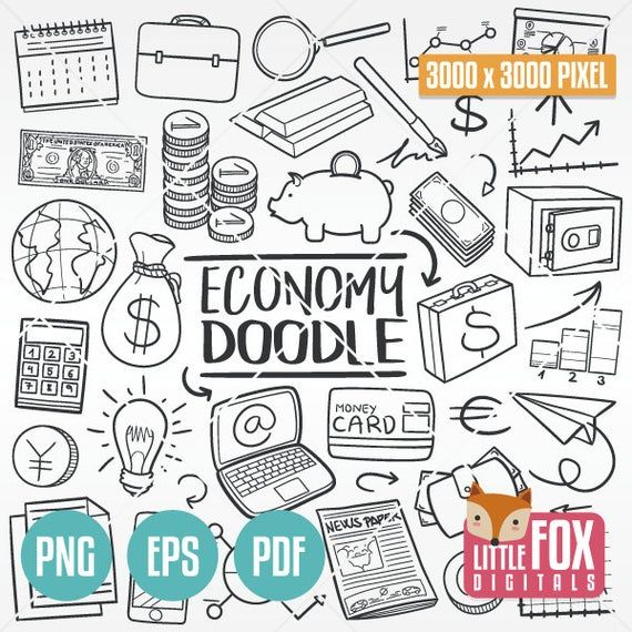 Economy Doodle Vector Icons Finances Money Traditional Etsy In 2021 Line Art Design Doodle Icon How To Draw Hands