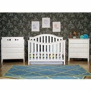 DaVinci 2 Piece Nursery Set - Goodwin 4-in-1 Convertible Crib and Jayden 3 Drawer Changer in White FREE SHIPPING