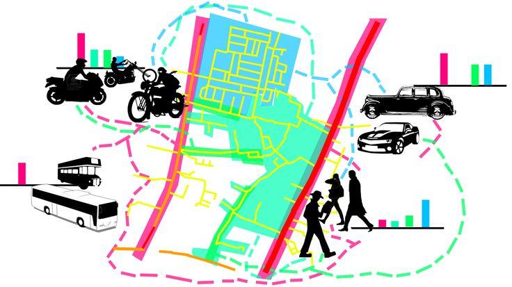 Mobilitas kendaraan dan sirkulasi manusia pada siang hari selain jalan arteri lancar karena masing-masing individu beraktifitas di dalam bangunan