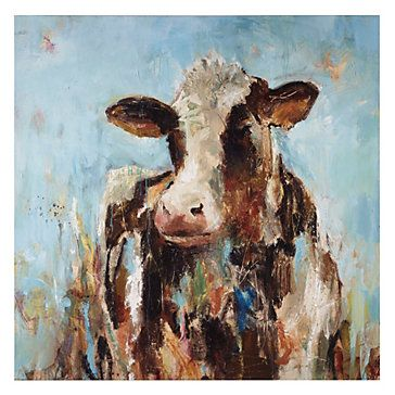Z Gallerie - Happy Cow would make me so happy if it were hanging in my house!