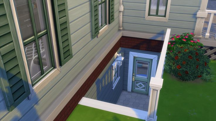 Sims 4 Basement Outdoor Entryway