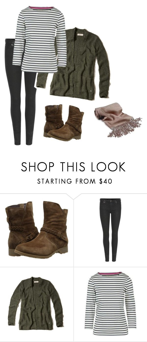"""""""Thursday Outfit"""" by majannsche ❤ liked on Polyvore featuring Teva, 7 For All Mankind, Hollister Co., Joules, Forzieri, Winter and capsulewardrobe"""