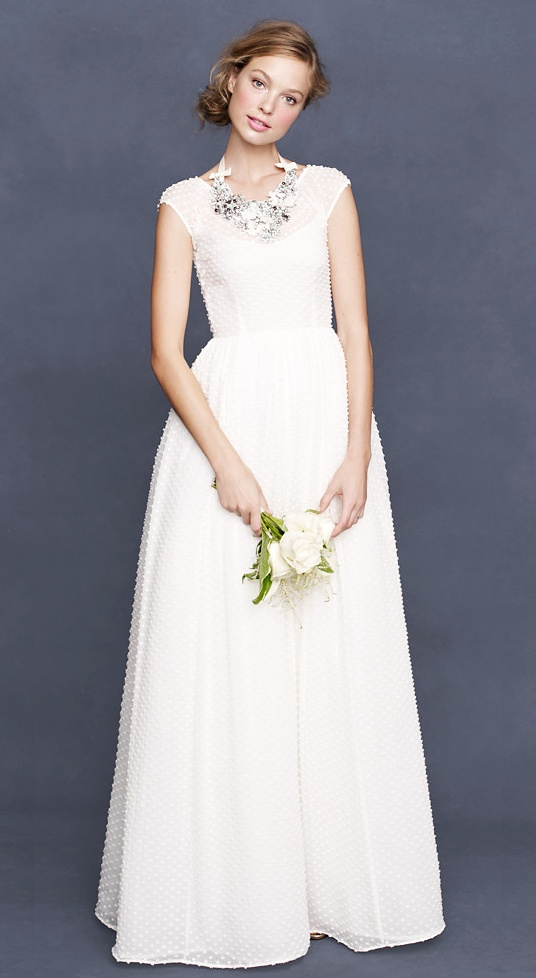 perfect j.crew dress | #jcrewwedding #bridestyle #weddinggown