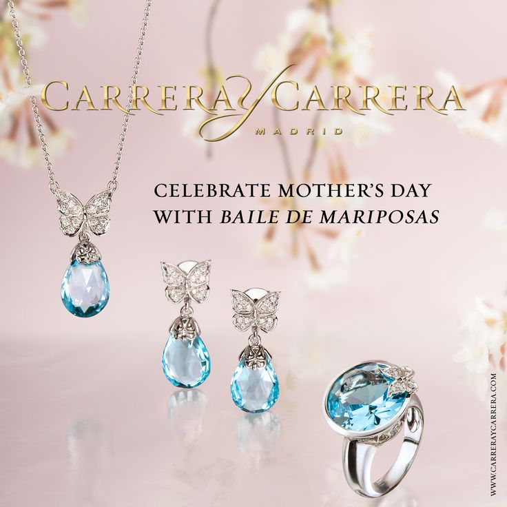Carrera y Carrera celebrates Mother's Day in a very special way. Youthful jewels in white gold and blue topaz are perfect for everyday wear, an excellent gift for such a special day. Every mother deserves a special gift on her day!  #carreraycarrera #jewelry #luxury #mothersday #diadelamadre #diadelamadre2015 #jewelry #jeweloftheday #instajewel #goldenjewels #jewels #joyas  #creativejewelry #joyeríacreativa