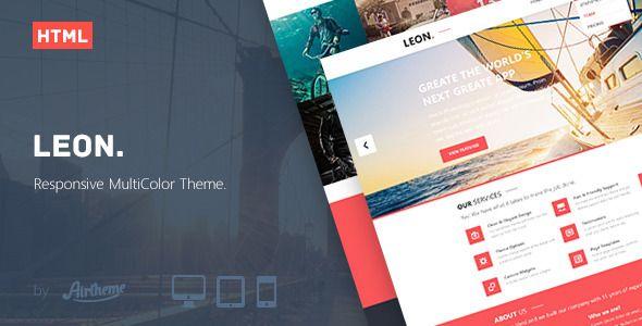 Leon. - MultiColor Responsive HTML5 Theme
