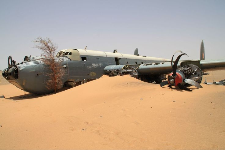 South African Air Force Avro Shackleton MR3. This aircraft crashed in the Western Sahara desert on 13 July 1994.