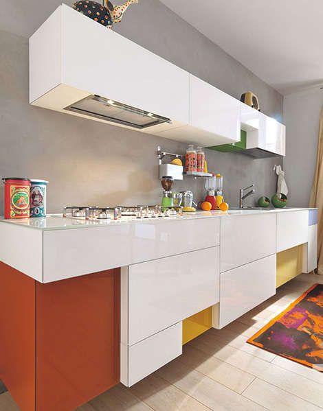 Zwevende Keuken Met Vrolijke Kleur. Part 61