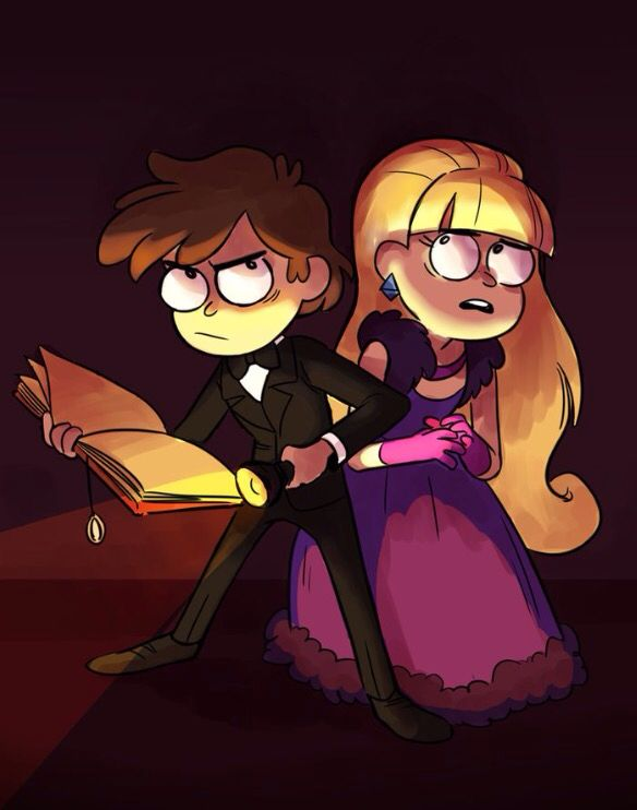 """D-dipper I'm scared"" ""don't worry Pacifica I'm here now and no ghost will touch…"