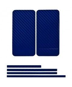 Купить Наклейка карбон для iPhone 4s | iPhone 4 синяя на переднюю, заднюю и боковые части, доставка по Москве и всей РФ.