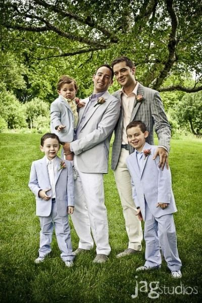 Gay Wedding gray suits Wedding ideas for brides bridesmaids