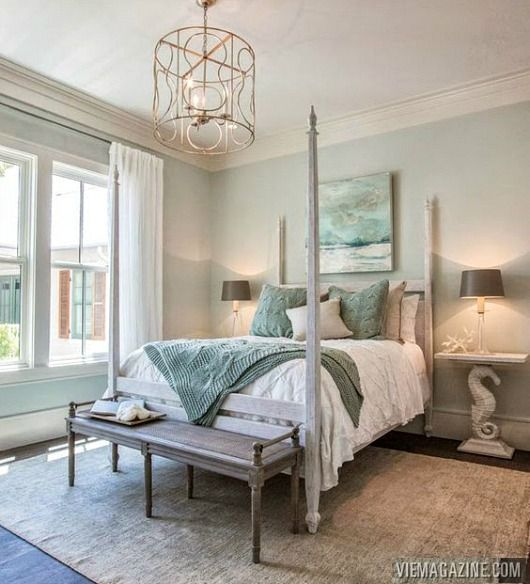Give yourself the royal treatment with a poster bed.... http://www.completely-coastal.com/2017/03/four-poster-beds-canopy-coastal.html Coastal bedrooms with poster beds. Shop the Look!