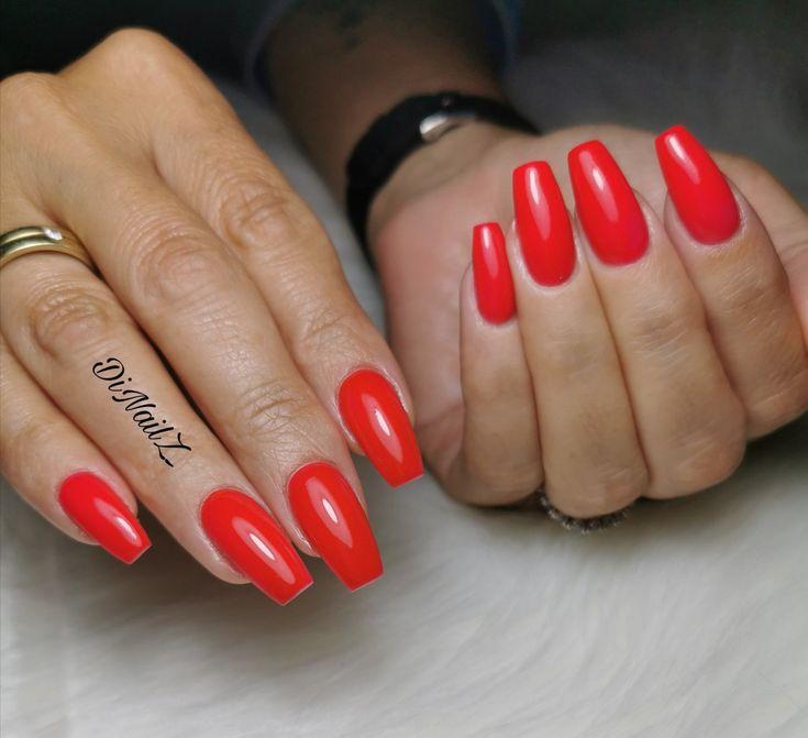 Red Nsils, nägel rot | Nägel rot, Nägel, Nails