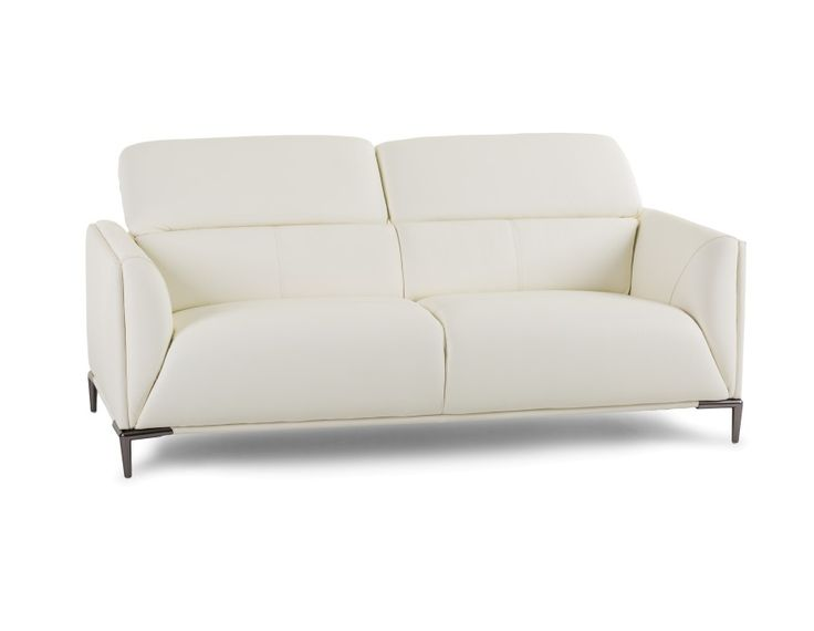 WESTMINSTER - Leather 3-seater sofa - White