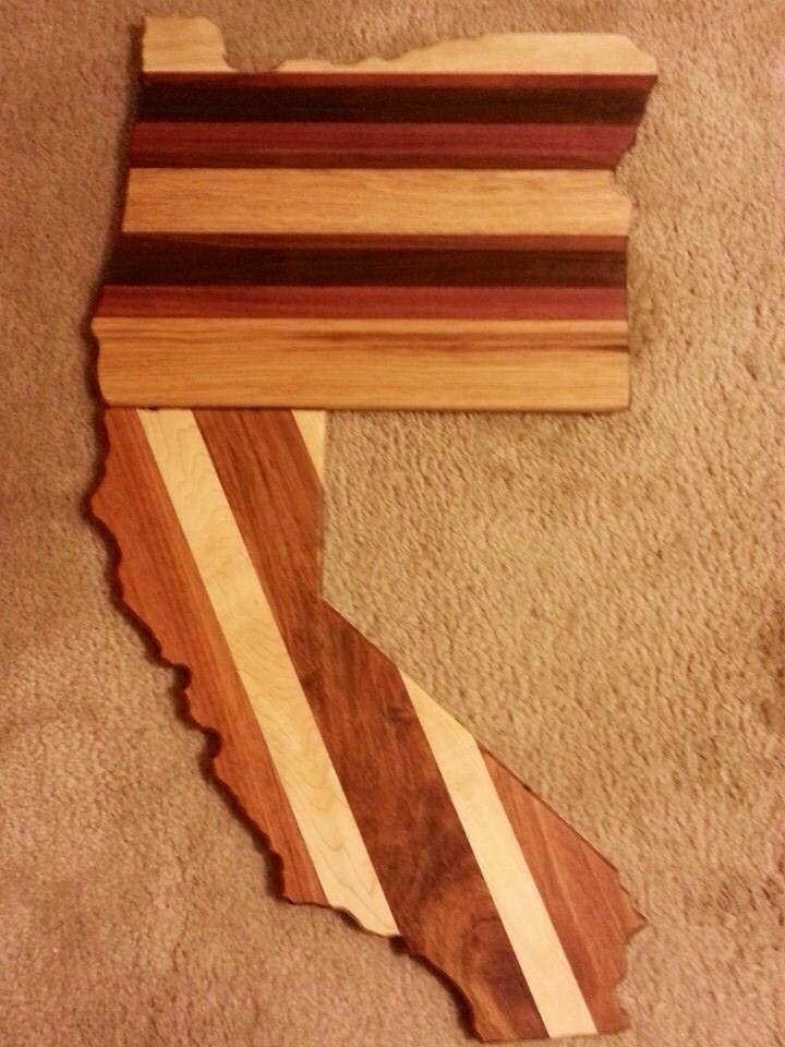 Designer cutting boards handmade from reclaimed wood by Brian Dunn owner of www.closedloopwoodworks.com