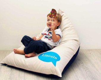 Personalizado niños Bean Bag con Blue bubble, Puff niños, silla de niños, Puff niños, niños muebles, cojines niños, Puff personalizado